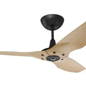 Haiku Outdoor Ceiling Fan: 52″, Caramel Woodgrain Aluminum, Universal Mount: Black