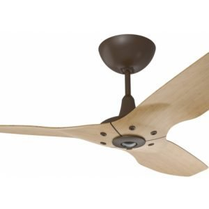 Haiku Outdoor Ceiling Fan: 60″, Caramel Woodgrain Aluminum, Universal Mount: Oil-Rubbed Bronze