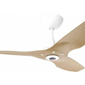 Haiku Outdoor Ceiling Fan: 84″, Caramel Woodgrain Aluminum, Universal Mount: White