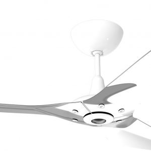 Haiku Ceiling Fan: 52″, Polished Aluminum, Universal Mount: White
