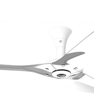 Haiku Ceiling Fan: 52″, Polished Aluminum, Low Profile Mount: White