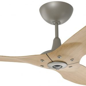 Haiku Ceiling Fan: 60″, Caramel Bamboo, Universal Mount: Satin Nickel