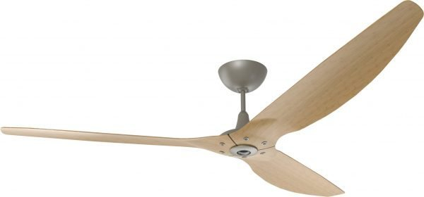 Haiku Ceiling Fan: 84″, Caramel Bamboo, Universal Mount: Satin Nickel