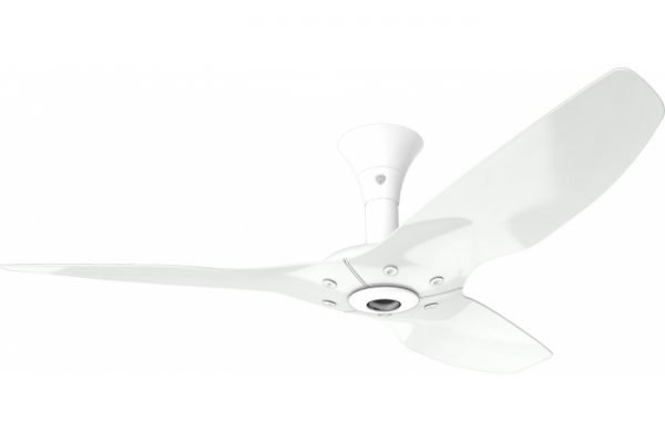 Haiku Outdoor Ceiling Fan: 52″, White Aluminum, Low Profile Mount: White